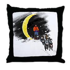 Moonlight Mushing Throw Pillow