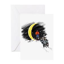 Moonlight Mushing Greeting Card