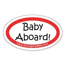 Baby Aboard Sticker with Ad (Oval)