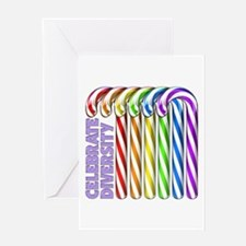 Rainbow Canes Greeting Card