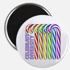 "Rainbow Canes 2.25"" Magnet (100 pack)"