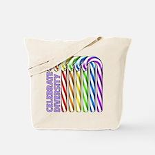 Rainbow Canes Tote Bag