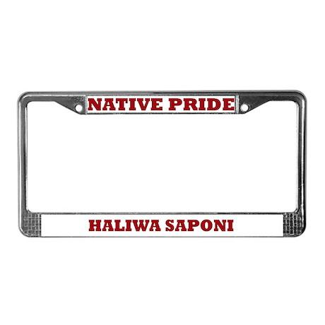 Native Pride Haliwa Saponi License Plate Frame