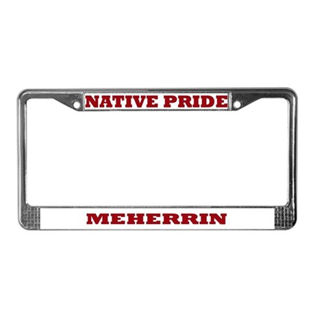 Native Pride Meherrin License Plate Frame