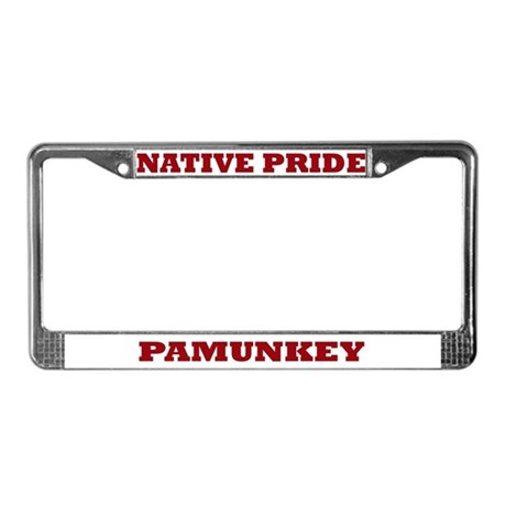 Native Pride Pamunkey License Plate Frame