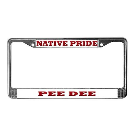 Native Pride Pee Dee License Plate Frame