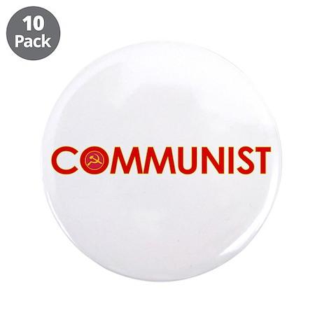 """Communist 3.5"""" Button (10 pack)"""