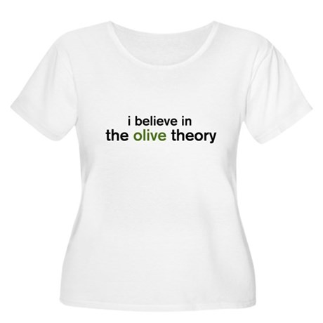 Olive Theory Women's Plus Size Scoop Neck T-Shirt