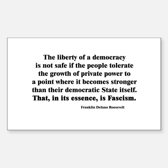 Freedom or Fascism Rectangle Decal