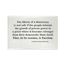 Freedom or Fascism Rectangle Magnet