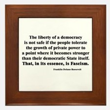 Freedom or Fascism Framed Tile