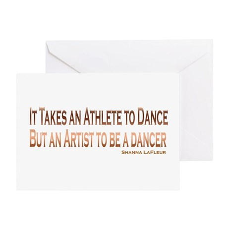 Athlete Artist Dance Greeting Card