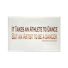 Athlete Artist Dance Rectangle Magnet