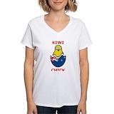 Kiwi chicks Womens V-Neck T-shirts