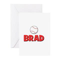 Brad - Baseball Greeting Cards (Pk of 20)