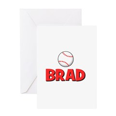 Brad - Baseball Greeting Card