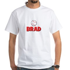Brad - Baseball White T-Shirt