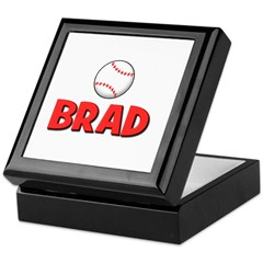 Brad - Baseball Keepsake Box