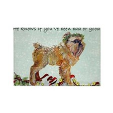 Brussels Griffon Holiday Dog Rectangle Magnet