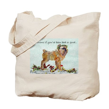 Brussels Griffon Holiday Dog Tote Bag