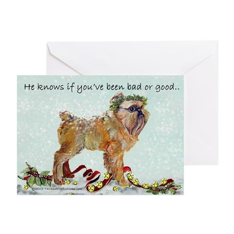 Brussels Griffon Holiday Dog Greeting Cards (Pk of