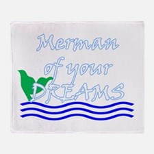 Merman Of Your Dreams (White) Throw Blanket