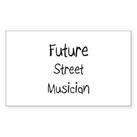 Future Street Musician Rectangle Sticker