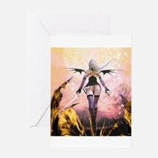 Cute Red dragon fire Greeting Card