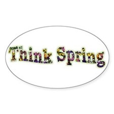 Think Spring Oval Decal