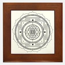 Sri Yantra Design Framed Tile