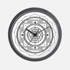 Sri Yantra Design Wall Clock
