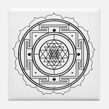 Sri Yantra Design Tile Coaster