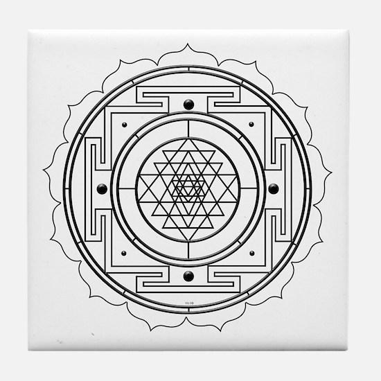Sri Yantra Design Tile Coaster