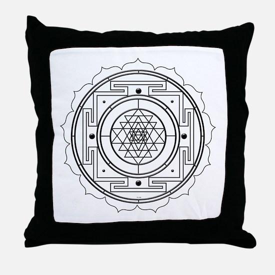 Sri Yantra Design Throw Pillow