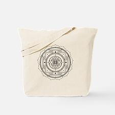 Sri Yantra Design Tote Bag