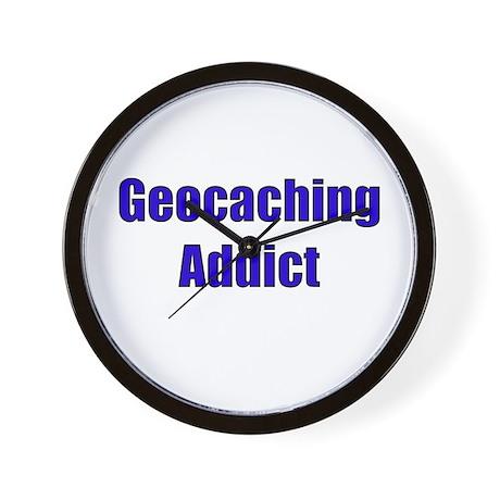 Geocaching Addict Wall Clock
