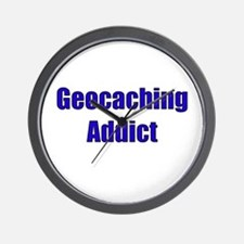 Geocaching Addict Wall Clock