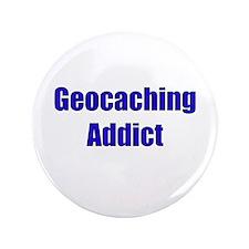 "Geocaching Addict 3.5"" Button"