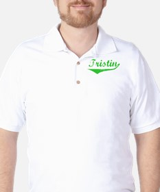 Tristin Vintage (Green) Golf Shirt
