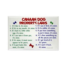 Canaan Dog Property Laws 2 Rectangle Magnet (10 pa