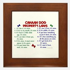 Canaan Dog Property Laws 2 Framed Tile