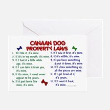 Canaan Dog Property Laws 2 Greeting Card