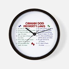 Canaan Dog Property Laws 2 Wall Clock