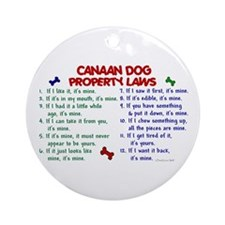 Canaan Dog Property Laws 2 Ornament (Round)