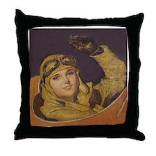 Aviatrix Throw Pillow