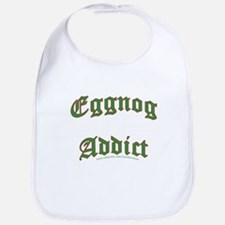Eggnog Addict Bib