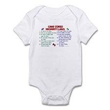 Cane Corso Property Laws 2 Infant Bodysuit