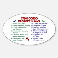 Cane Corso Property Laws 2 Oval Decal