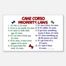 Cane Corso Property Laws 2 Rectangle Decal