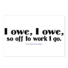 I owe, I owe... Postcards (Package of 8)